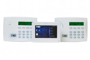Security systems with keypad and touch screen