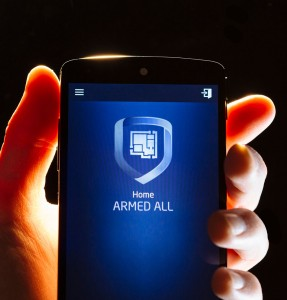 Smart phone with capability of arming home security
