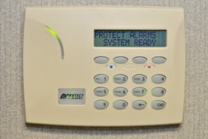 Security system with keypad control panel