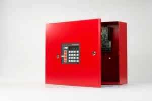 Wall mounted fire alarm system control panel