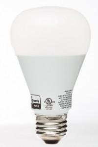 Closeup of motion sensor lightbulb